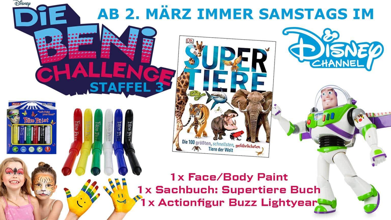 Die BEni Challenge Staffel 3 Gewinnspiel Artikelbild