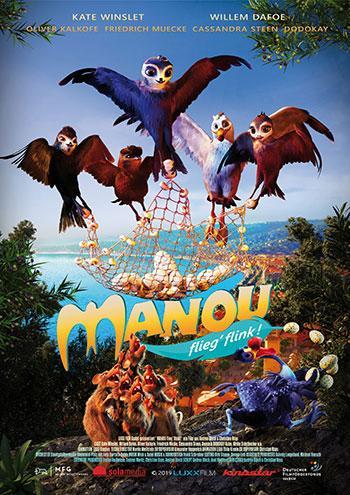MANOU flieg flink Kino Plakat