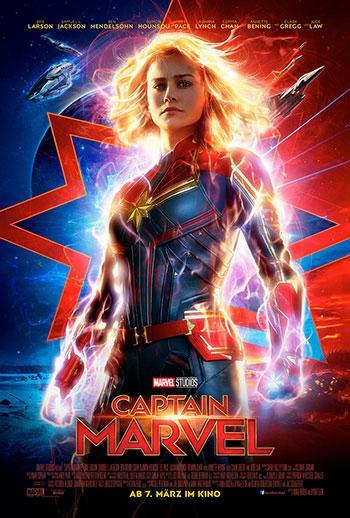 Captain marvel Kino Review Plakat