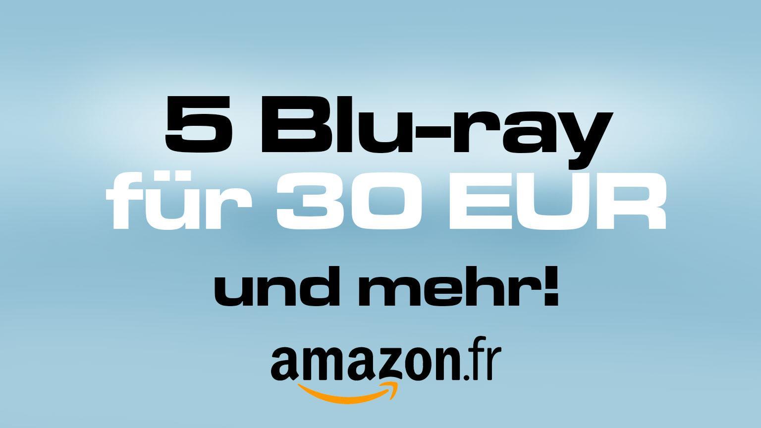 Amazon.fr Deal 5 Blu-ray für 30 EUR und andere Aktionen