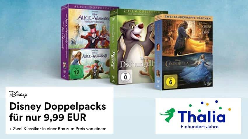 Thalia.de Deal Disney Doppelpacks 9,99 EUR März 2019