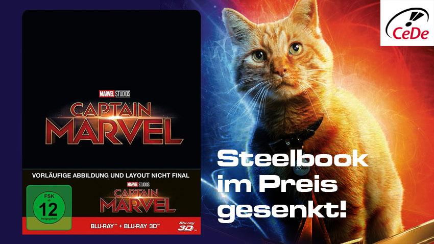 Deal CeDe.de Captain Marvel Lilitiertes Steelbook im Preis gesenkt Artikelbild