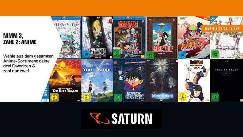Saturn.de Deal Nimm 3 zahl 2 Anime Artikelbild