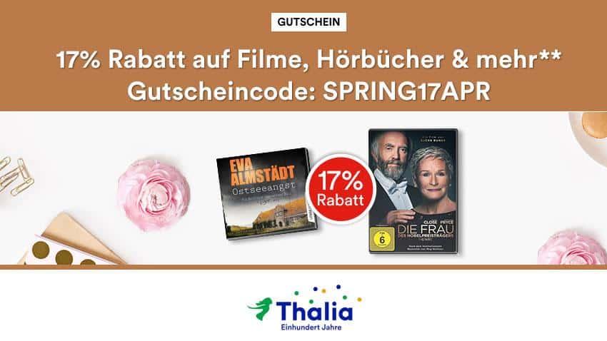 Thalia.de Rabatt 17% auf Filme und Mehr April 2019