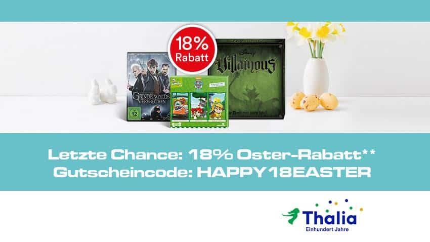 Thalia.de Deal 18 Prozent auf Filme und Mehr Oster-Rabatt-Woche Artikelbild