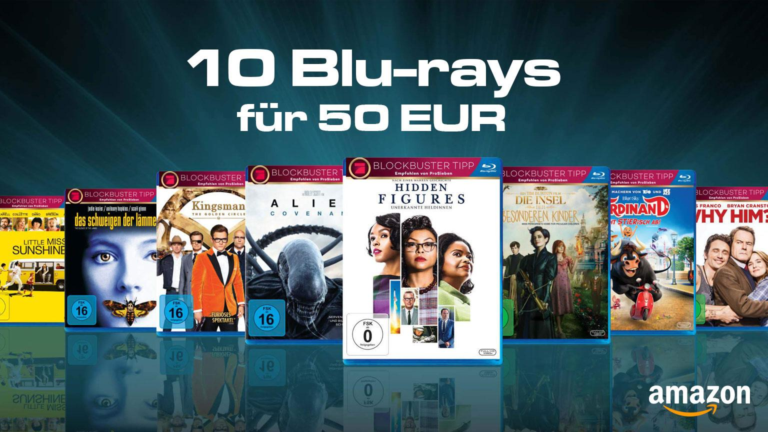 Amazon.de Deal 10 Blu-ray für 50 EUR Mai 2019 Artikelbild