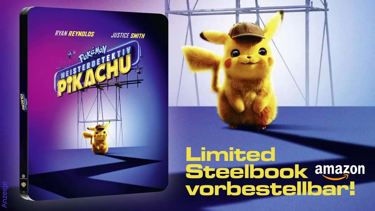 Pokemon Meisterdetektiv Picachu Limited STeelbook Edition vorbestellbar