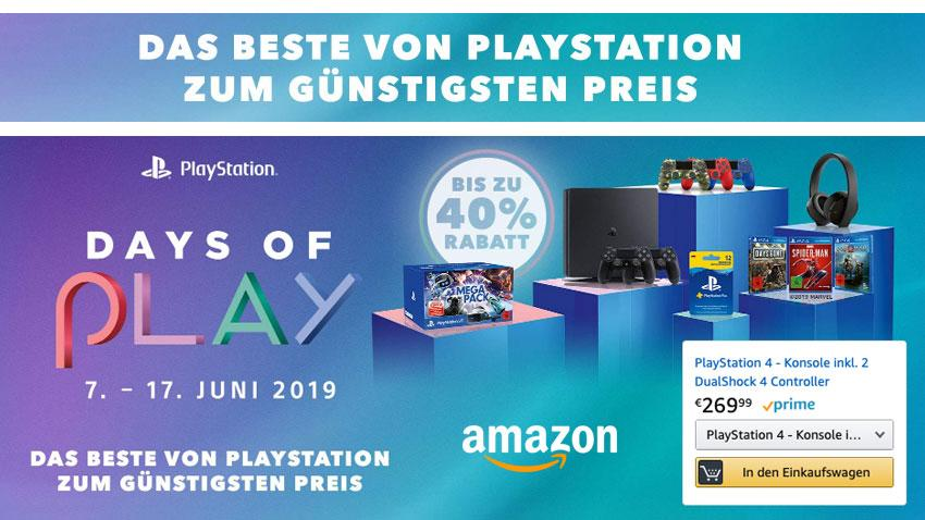 Amazon.de Deal Days of Play 7. bis 17. Juni 2019