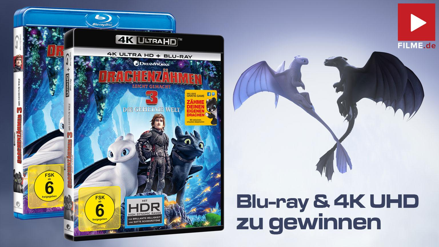Drachenzähmen leicht gemacht 3 Gewinnspiel Blu-ray 4K UHD Artikelbild