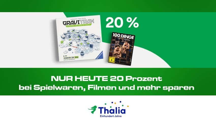 Thalia.de Deal 20% auf Spielwaren, Filme mehr Artikelbild