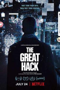 Filmplakat zu Cambridge Analyticas großer Hack