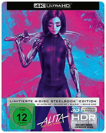Alita Battle Angel Steelbook 4K UHD Media-Dealer Deal cover