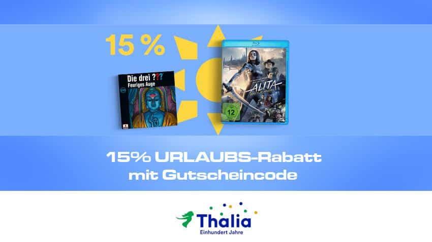 Thalia.de Urlaubs Rabatt 15% Artikelbild