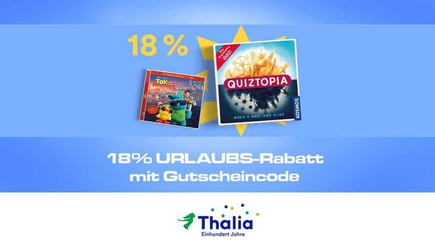 Thalia.de Gutschein code 18% Artikelbild