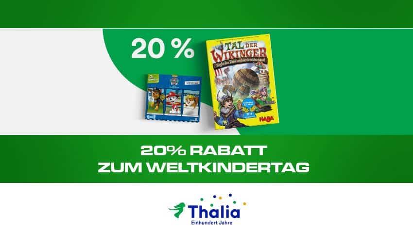 20% Rabatt zum weltkindertag Thalia.de Deal Artikelbild