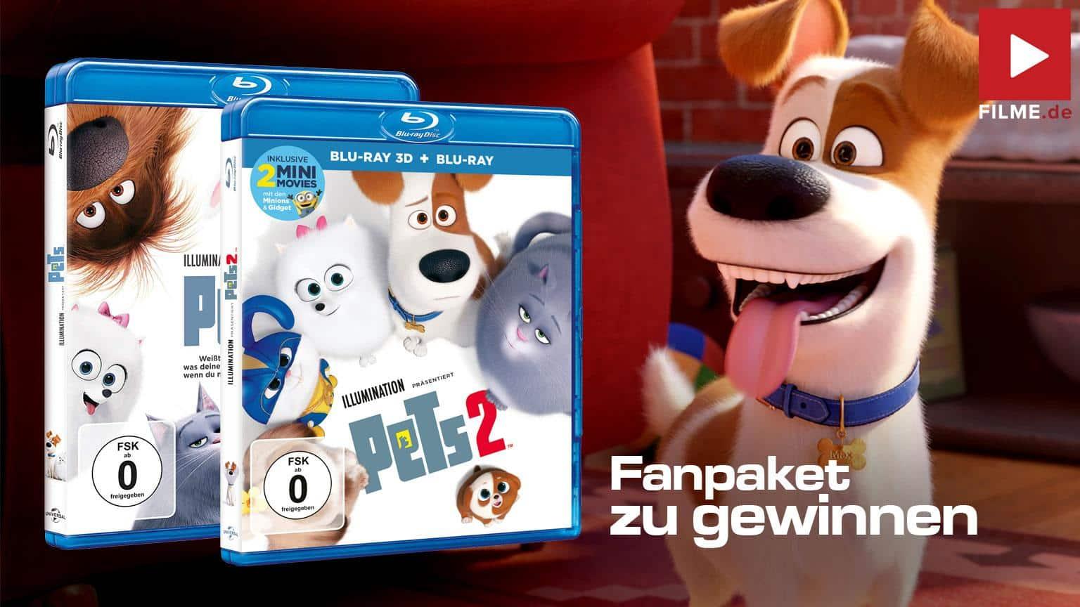 Pets Fanpaket Pets & Pets 2 Blu-ray Gewinnspiel Artikelbild