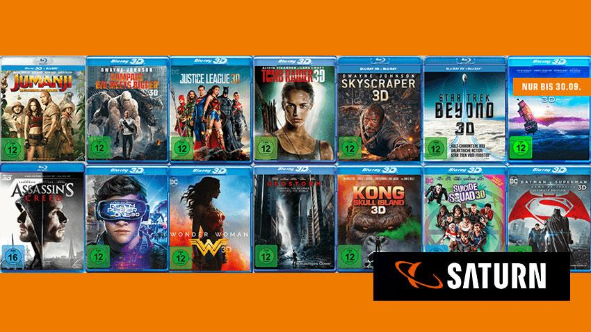Deals Saturn.de 3D Blu-rays für 30 EUR Artikelbild