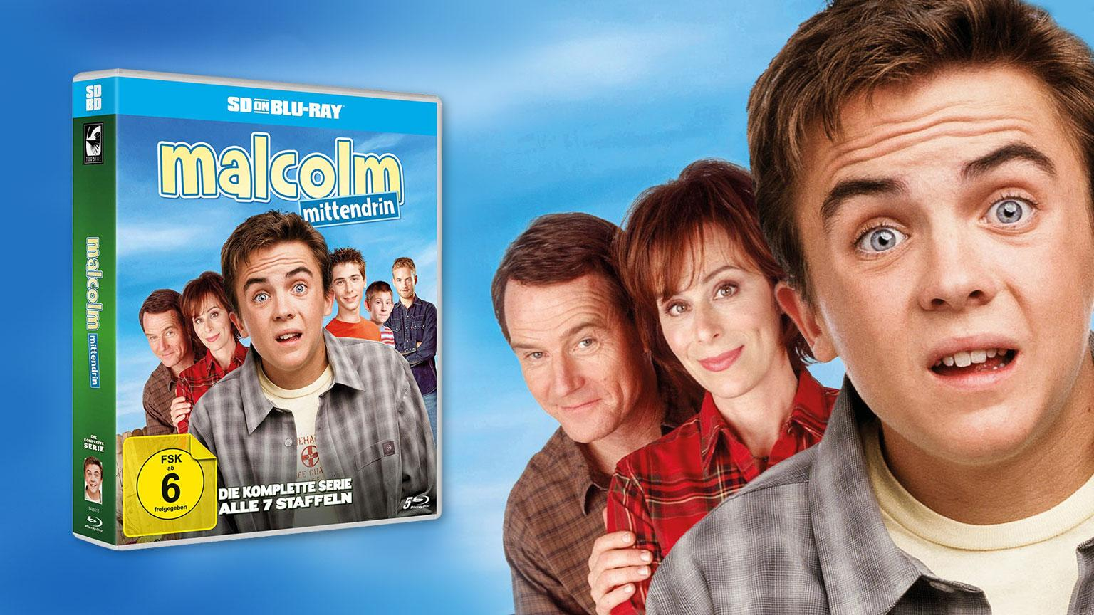 Malcom Mittendrin SD on Blu-ray Review Cover artikelbild