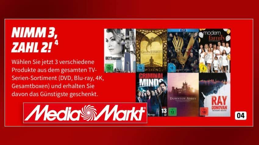 MediaMarkt.de Deal Gutscheinheft 3 für 2 TV-Serien Artikelbild