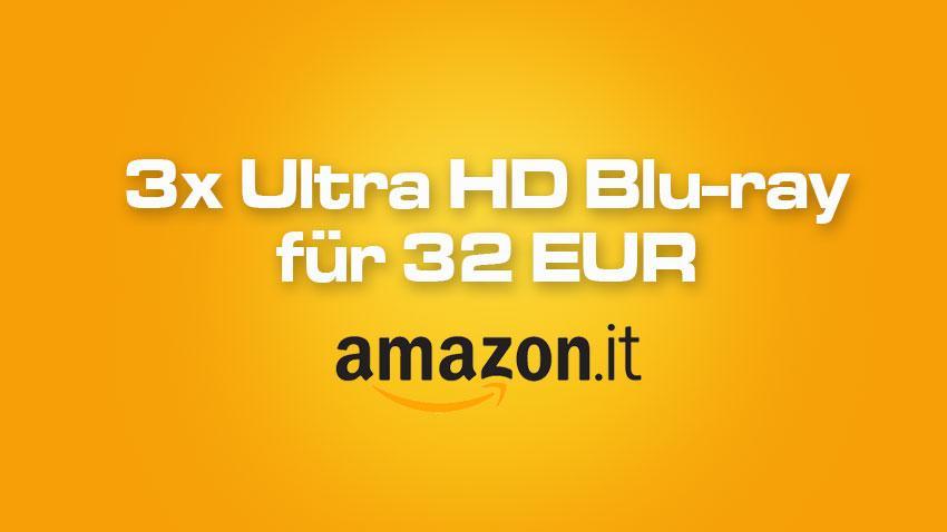 Amazon.it Deal 3x 4K UHD für 32 EUR shop kaufen