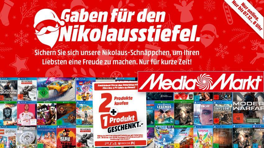 MediaMarkt.de Deal Nikolausstiefel Aktion sparen Games 3 für 2 Artiklebild