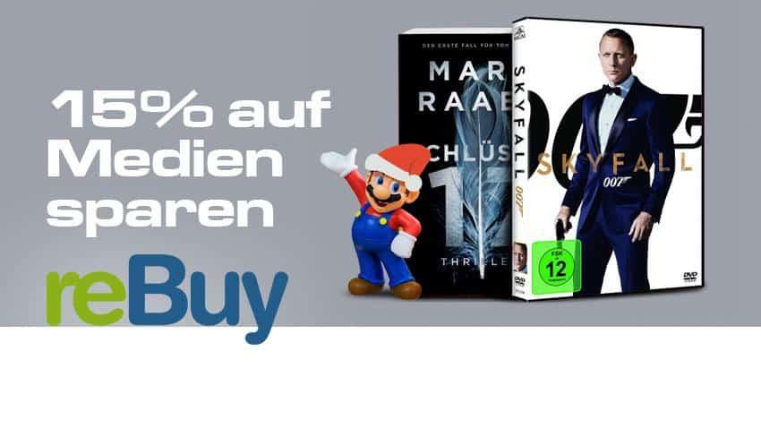 ReBuy.de Deal 15% sparen auf Medien