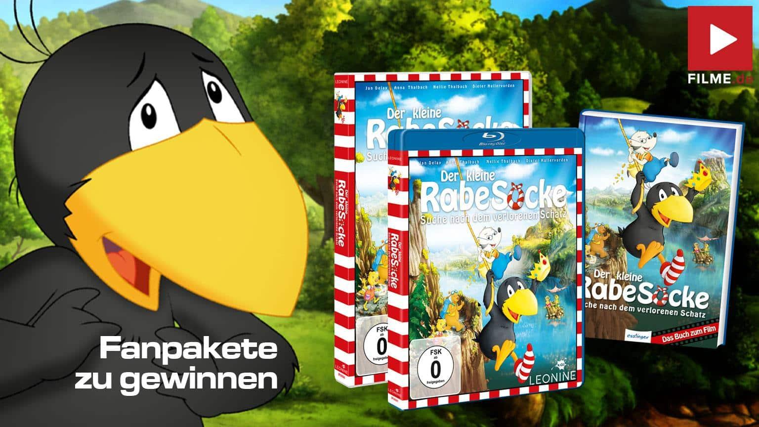 DER KLEINE RABE SOCKE - SUCHE NACH DEM VERLORENEN SCHATZ Gewinnspiel DVD Blu-ray Buch shop kaufen Artikelbild