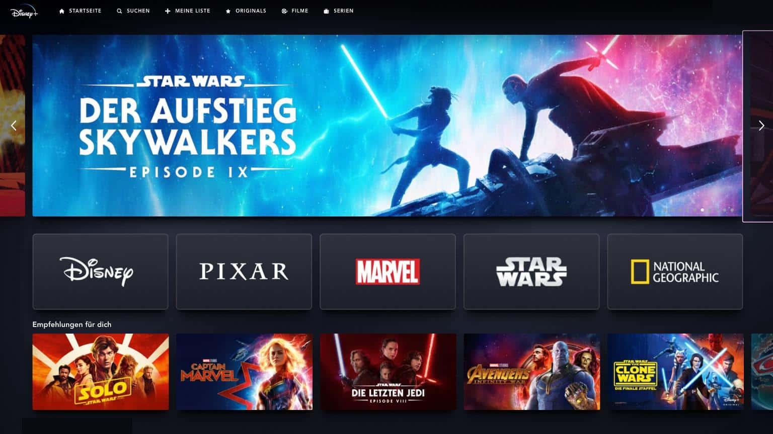 Disney + Filme Und Serien