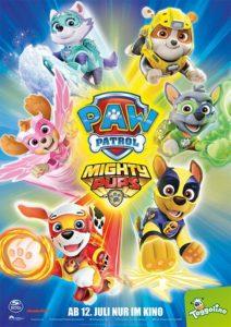 PAW PATROL MIGHTY PUPS Kino Film Trailer Plakat 2020