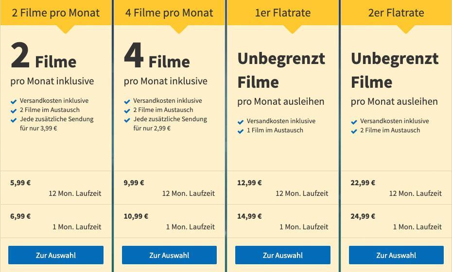 VideoBuster.de Filme kostenlos streamen Angebot Abonnement Filme leihen