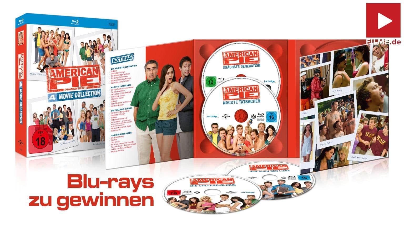 Gewinnspiel AMERICAN PIE 4 MOVIE COLLECTION Blu-ray gewinnen shop kaufen Artikelbild