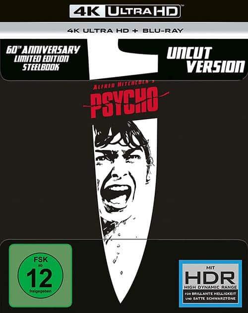 Psycho - (4K Ultra HD Blu-ray + Blu-ray) Cover shop kaufen