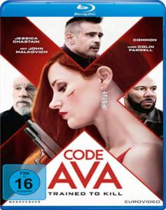 Code AVA Trained to kill Film 2020 Blu-ray DVD shop kaufen Cover
