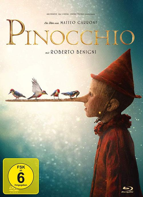 Pinocchio - 2-Disc Limited Collector's Edition im Mediabook (+ DVD) [Blu-ray] Film 2019 2020 Cover shop kaufen