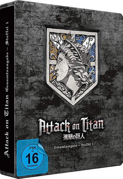 Attack on Titan - Staffel 1 - Gesamtausgabe - [Blu-ray] Steelbook (Exklusiv bei Amazon.de) shop kaufen shop kaufen Cover