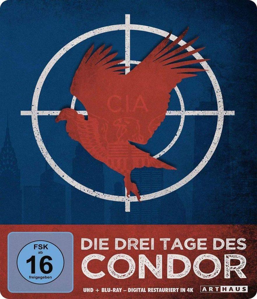 Die drei Tage des Condor / Limited Steelbook Edition (4K Ultra HD) (+ Blu-ray 2D) Film 1975 shop kaufen cover