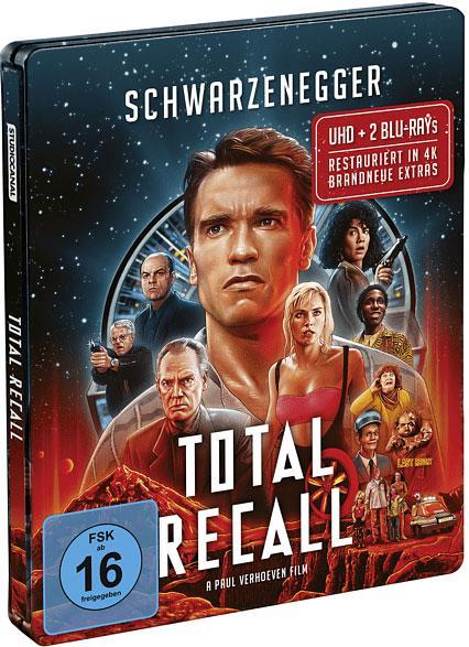 Total Recall Film 1990 4K UHD Steelbook Cover shop kaufen