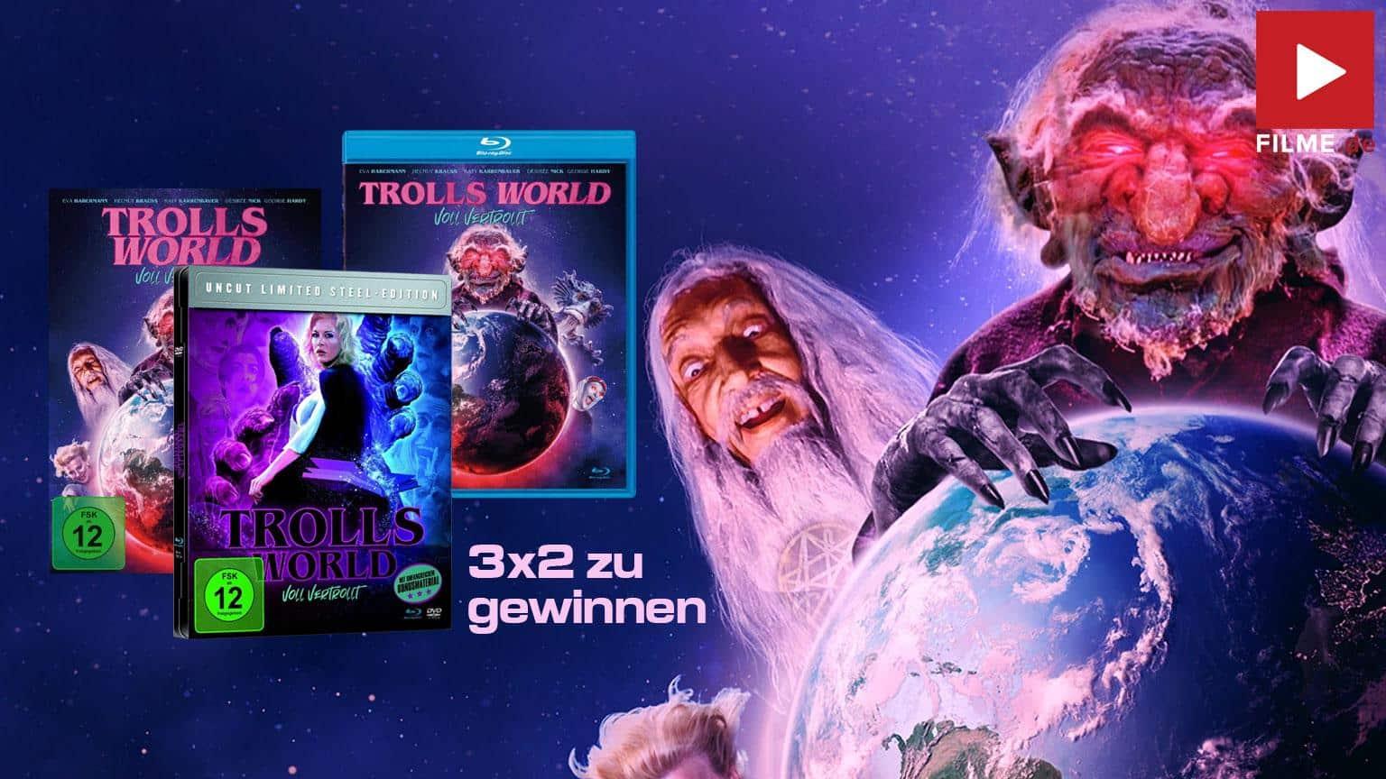 Trolls World - Voll vertrollt (uncut Version) [Blu-ray] Gewinnspiel gewinnen Steelbook Blu-ray DVD Shop kaufen Artikelbild