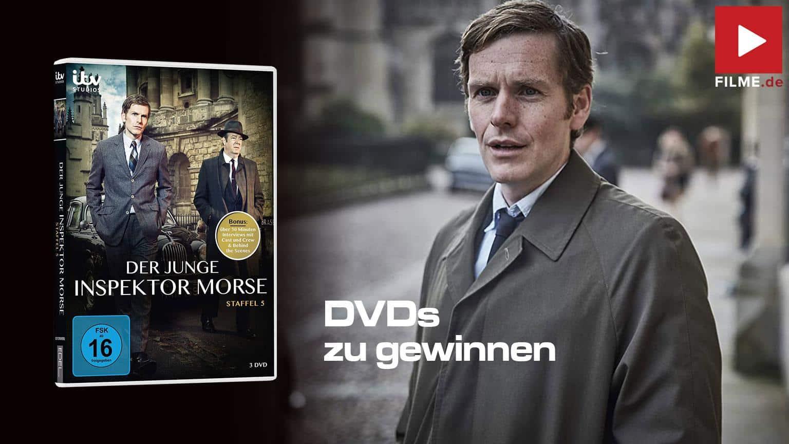 Der Junge Inspektor Morse Staffel 5 Gewinnspiel gewinnen Blu-ray DVD shop kaufen Artikelbild
