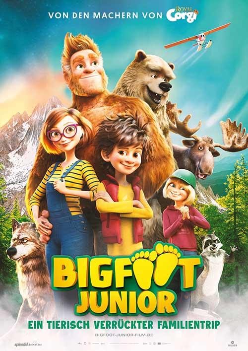 Bigfoot Junior - Ein Tierisch Verrückter Familientrip Plakat Kinostart Film 2021