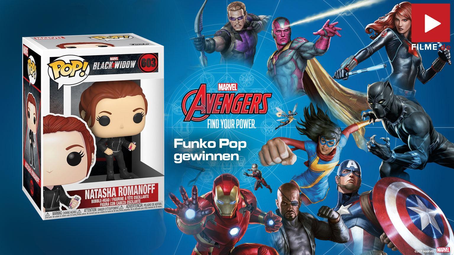 Avengers: Find Your Power Funko Pop Gewinnspiel Disney gewinnen shop kaufen