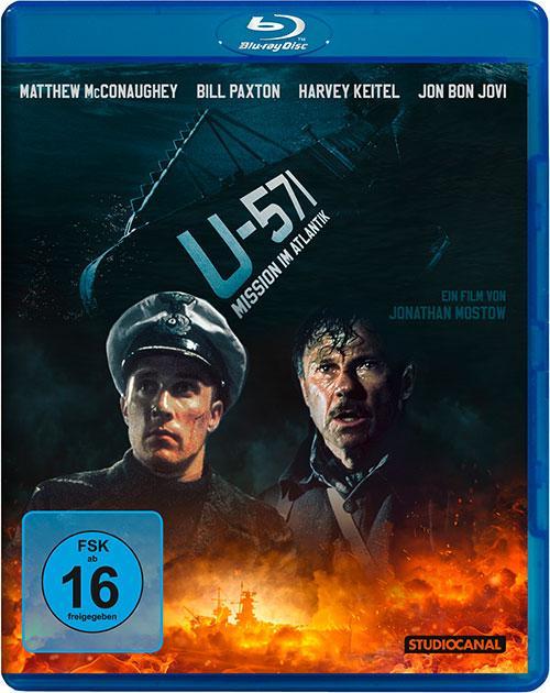 U-571 MIssion im Atlantik Film 2000 Blu-ray remastered Cover shop kaufen