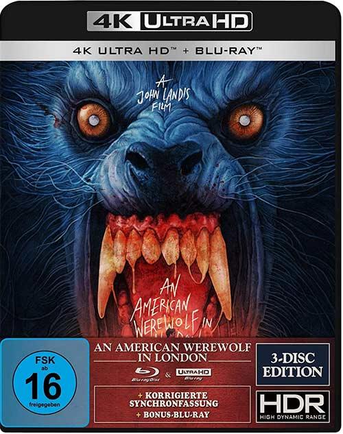 An American Werewolf in London - 3-Disc-Special Edition (4K Ultra HD) (+ Blu-ray 2D) (+ Bonus-Blu-ray) (Gabz Artwork) Cover shop kaufen