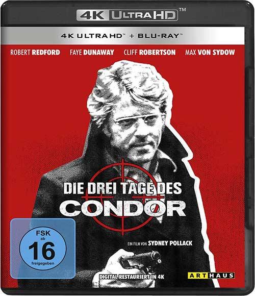 Die drei Tage des Condor (4K Ultra HD) (+ Blu-ray 2D) Cover shop kaufen