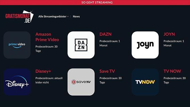 Gratismonat.de – jetzt kostenlos Angebote testen
