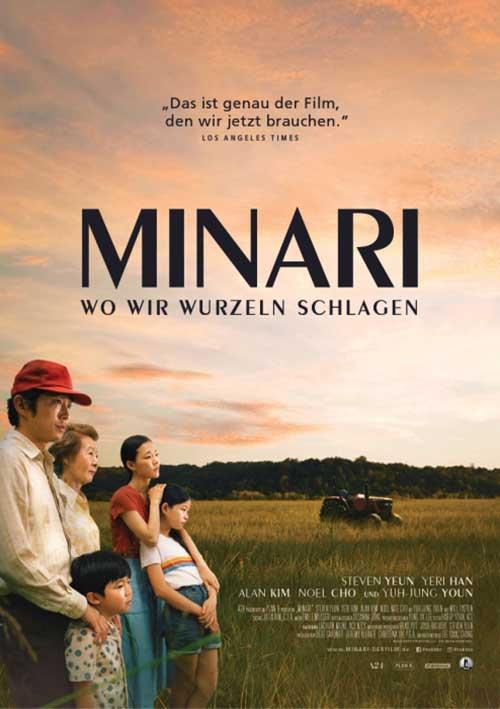 Minari wo wir wurzeln schlagen Film 2021 Brad Pitt Kino Plakat