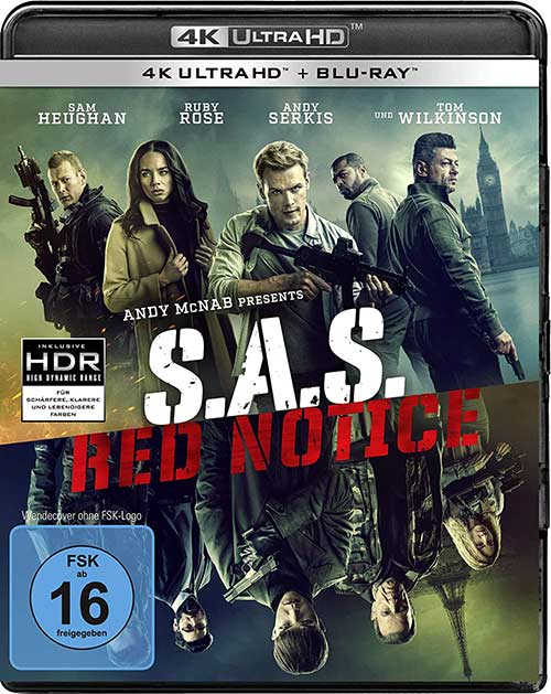 S.A.S. Red Notice Film 2021 4K UHD Cover shop kaufen