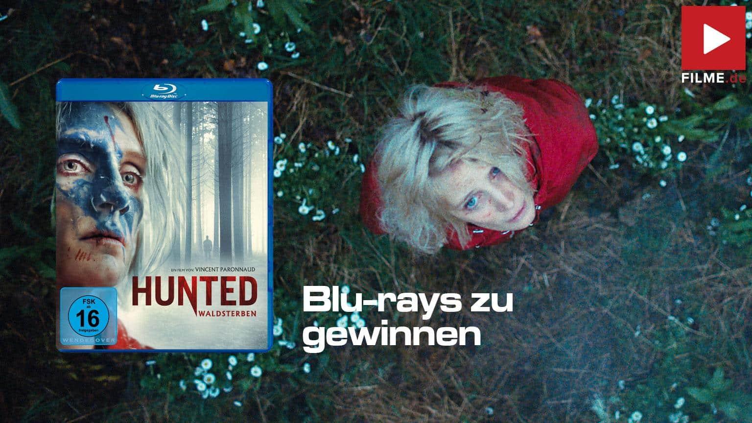 Hunted - Waldsterben Film 2021 Blu-ray Cover shop kaufen Artikelbild Gewinnspiel gewinnen