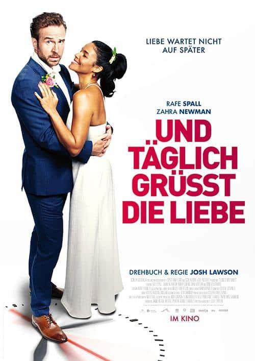 UND TÄGLICH GRÜßT DIE LIEBE Film 2021 Drama Komödie Zeitschleife Kino Plakat