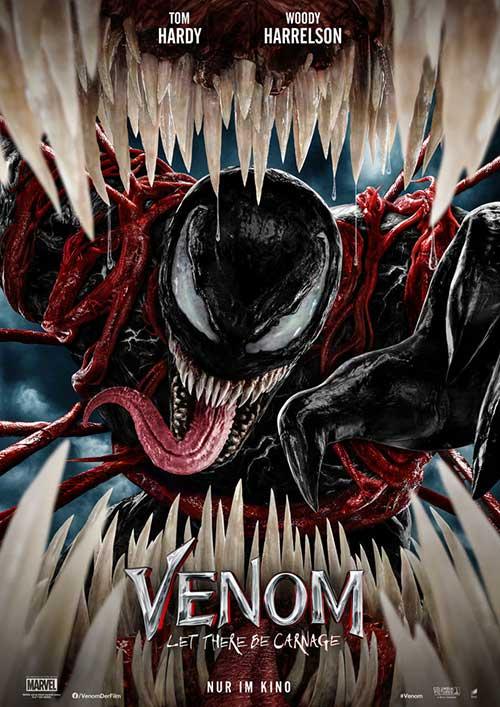 Venom: Let There Be Carnage Film 2021 Kinostart Trailer Kino Plakat